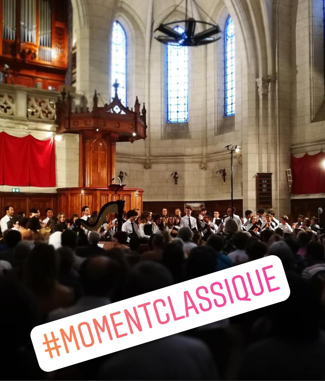 Concert de la maitrise de Toulouse, hashtag MomentClassique